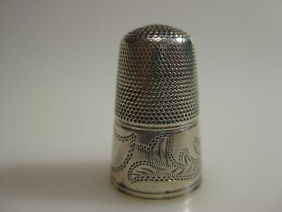 Antique Tall Early ENGLISH Silver Thimble