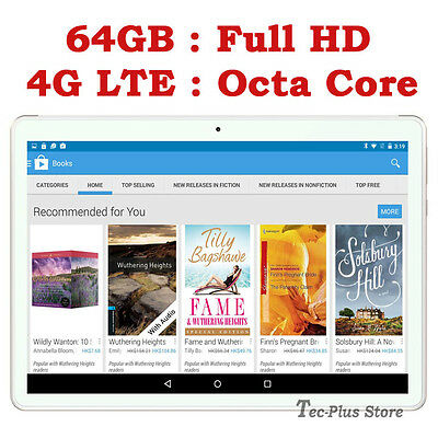 """NEUF TECA T811 4G LTE 3.6GHz OCTA CORE 64GB 10.1"""" Full-HD ANDROID 6.0 TABLETTE a"""