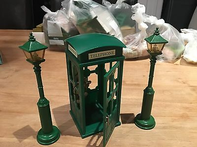 sylvanian families 1980s Vintage Telephone Box And Street Lights