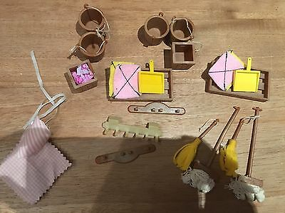 sylvanian families 1980s Vintage Cleaning Sets