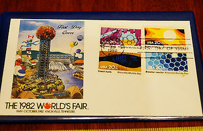 1982 Worlds Fair Knoxville TN 1st day Cover Issue 4 Stamps in Double Sleeve