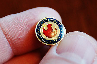 1982 Worlds Fair Knoxville Flame Tie Tack Lapel Pinback