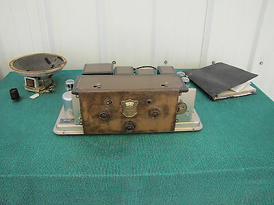 Antique Atwater Kent 55C Radio Chassis with Manual - Speaker - Non-Working