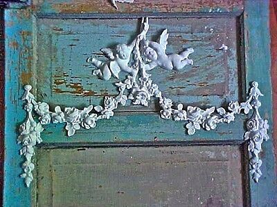 Shabby & Chic Roses Cherubs Swags *furniture Appliques* Antique