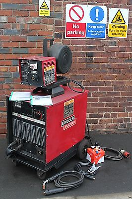 Lincoln CV500-l Power Source With LN 742 Digital Wire Feed 3 Phase Mig Welder