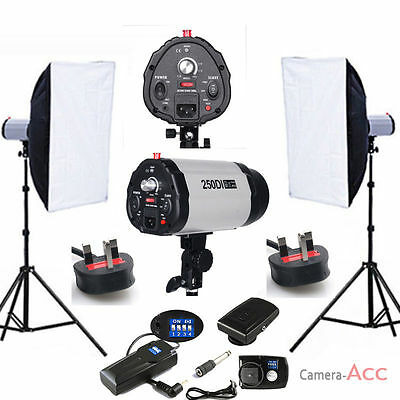 Pro Studio Flash Kit iluminación Kit sistema foto disparador cabeza luz !Venta!