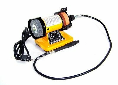 "3"" Mini Bench Grinder W/ 1/8"" Rotary Flex Shaft Grinding Tool Automotive Shop"