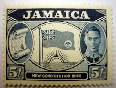 JAMAICA  5shilling  1944   KGV1     MINT   STAMP-....