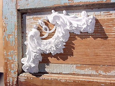 Shabby & Chic Furniture Appliques  Rose Corner* Large * $5.95 No Limit Shipping