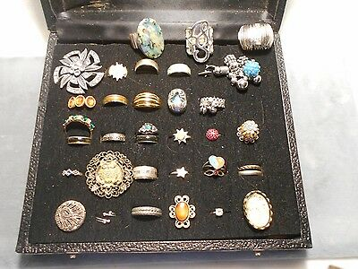 Lot Of 36 Fun Costume Rings, Stretch, Adjustable And Sized