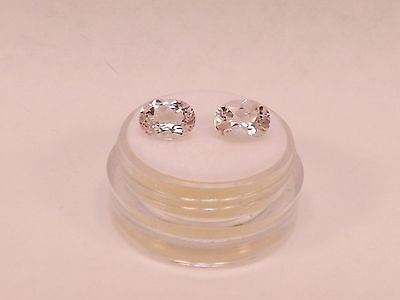 Matched Pair Natural Morganite new in case