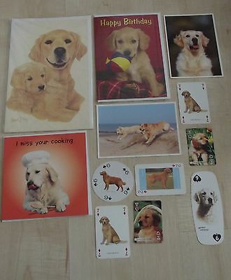 GOLDEN RETRIEVER new greeting cards,postcards,playing cards,dog collection