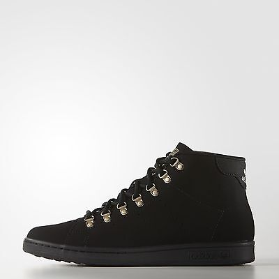 Brand New $130 Adidas Men's Stan Smith Winter Shoes Black S81557