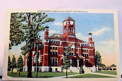 Scenic Fond Du Lac Court House Postcard Old Vintage Card View Standard Souvenir