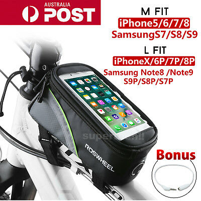 """4.8""""/5.5"""" Cycling Bike Front Top Frame Pannier Tube Bag Case Pouch for CellPhone"""