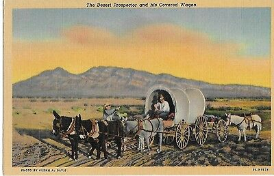 THE DESERT PROSPECTOR and HIS COVERED WAGON Printed i Boulder City Colorado CO.
