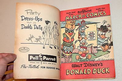 March of Comics #69 (Donald Duck) Nice with Outer Cover Carl Barks Art 1951 FN-
