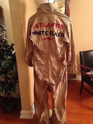 Vintage Atlantic White Flash Service Station Coveralls