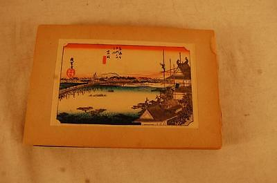 Antique Book Of 33 Japan Japanese Colored Woodblock Wood Block Prints