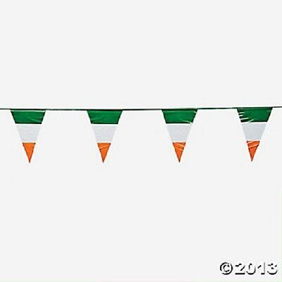 100Ft Plastic Irish Flag Pennant Banner St Patrick's Day Party Decoration