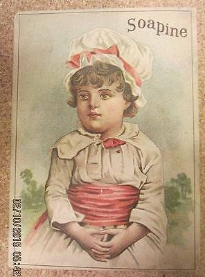VTG Soapine Washing, Cleaning Everything Soap Victorian trade card Providence RI