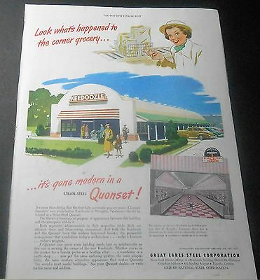 1949 Great Lakes Steel Quonset Keedoozle Push-Button Grocery Memphis Tn Print Ad