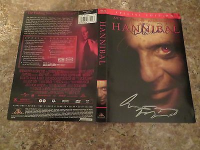 Signed Autographed DVD Cover Hannibal - Anthony Hopkins & Julianne Moore
