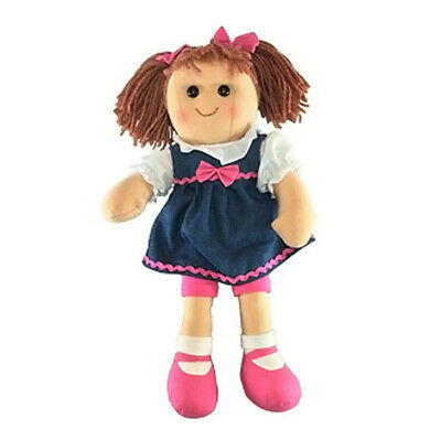 "Lacey Rag Doll by Hopscotch Collectibles soft toy Ragdoll 14""/35cm NEW"