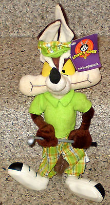 "Wile E. Coyote Golfer 17"" Tall Plush Doll"