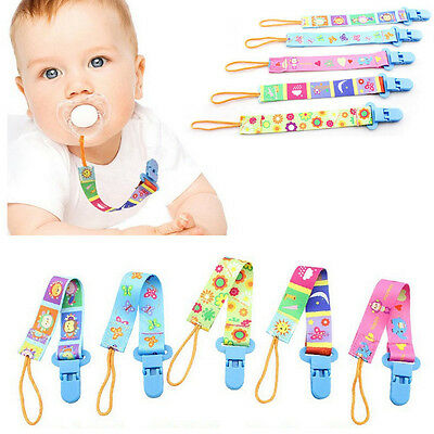 Newborn Baby Cartoon Dummy Chain Pacifier Clip Holder Soother Nipple Strap Chain