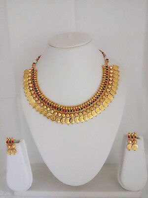 New Indian Fashion Jewelry Temple Coin Necklace Bollywood Ethnic Traditional Set