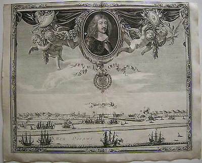 Mardick Dunkerque Nord Vue totale Gravure cuivre Kuperstich 1650 France