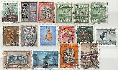 d001) Sri Lanka. 1958/62. Used. Small Collection. c£13+
