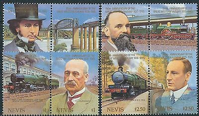 e181) Nevis. 1985. MNH. SG.318 to 325. 150th Anniversary of the G.W.R. Railways.