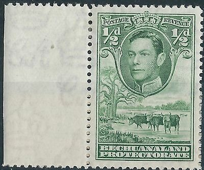 L197) Bechuanaland Prot. 1938/52. MM. SG 118 1/2d Green with margin