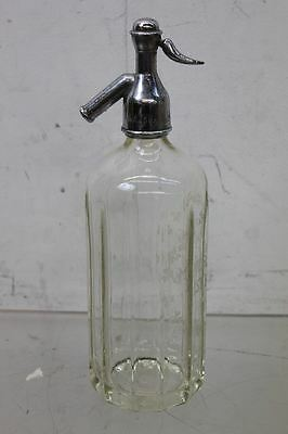Vintage Mineral Water Distributors of Dublin Glass Porcelain Lined Soda Syphon