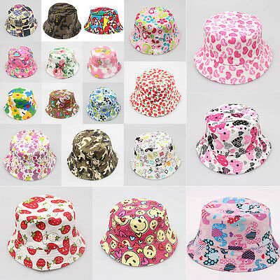 Sun Hat Summer Beach Kids Flower Pots Canvas Cap For 1-3 Years Baby Children
