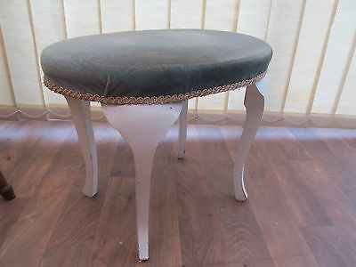 Oval Dressing Table Stool  Vintage Furniture Requires Cosmetic Restoration H 42