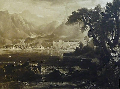 Castle, Loch, Mountains-  Etching- WILLIAM HOLE- after Rev. John Thomson- 1889.