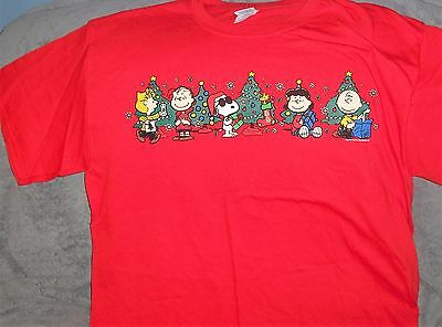 NEW PEANUTS Snoopy JOE Cool CHARLIE BROWN Lucy LINUS CHRISTMAS Adult LARGE Shirt