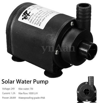 DC 24V Solar Hot Water Circulation Pump Brushless Submersible Motor 7m 1000 L/H