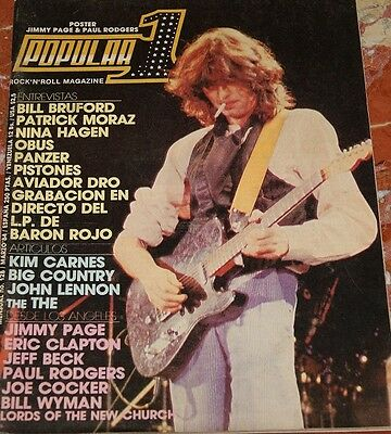 Popular 1 Magazine Jimmy Page+Paul Rogers+Baron Rojo+Nina Hagen+Obus+Judas Pries