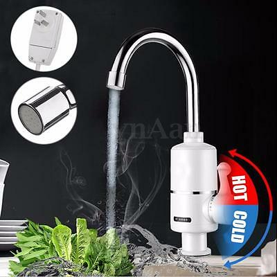 Electric Heating Faucet Hot & Cold Mixer Water Heater Bathroom Kitchen Boat Tap