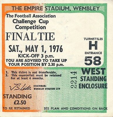 TICKET: FA CUP FINAL 1976 Southampton v Manchester United