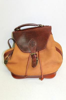 TIMBERLAND Ladies Tan Brown Mahogany Suede & Leather One Strap Backpack Bag