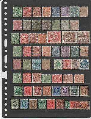King George V G/used Selection Sideways/inverted  As Shown