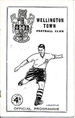 Wellington v Hereford United (Southern League) 1963/4
