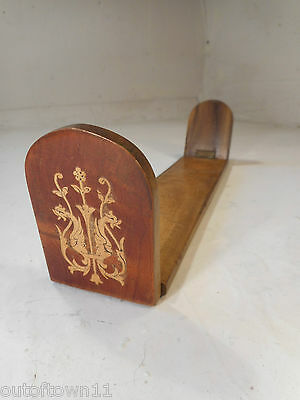 Vintage inlaid Miniature  Book Ends    ref  2408