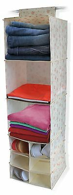 Vintage Chintz Patterned Clothes Sweater Hanging Shoe Storage Organiser