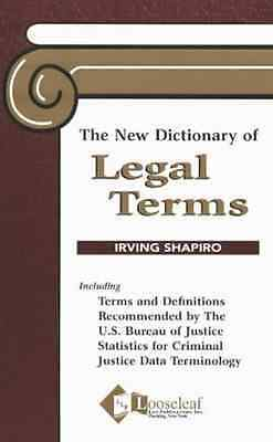 The New Dictionary of Legal Terms - Shapiro, Ian NEW Paperback 10 Oct 2003
